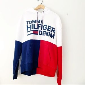 NWT Tommy Hilfiger Tricolor Graphic Hoodie